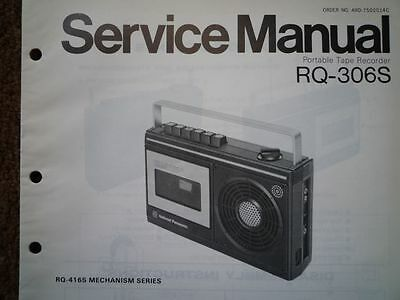 PANASONIC RQ-306S Cassette tape Recorder Service manual wiring parts diagram