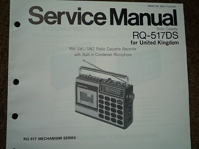 PANASONIC RQ-517DS Radio Cassette Recorder Service manual wiring parts diagram