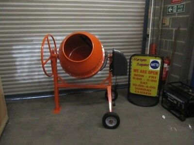 Cement Mixer w/ 190L Capacity. Reliable Electric Powered Mixer and Wheels.
