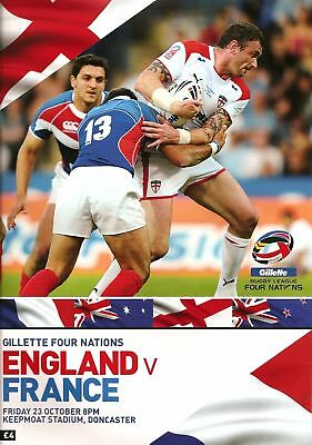 ENGLAND v FRANCE RUGBY LEAGUE FOUR NATIONS 2009 MINT