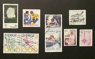 Sweden Postage Stamps 9 used stamps