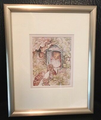 Adorable Matted And Framed Beatrix Potter J. Dormouse Lithograph