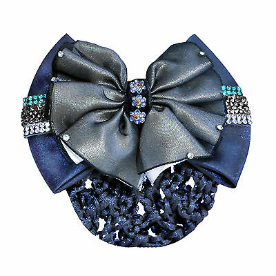 Waldhausen Hair Bun Net With Bow Clasp And Rhinestones - Dressage/Showing