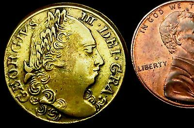 S507: Late 1700's George III Uniface Coin Weight - 7.91 grams