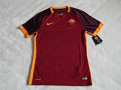 As Roma 2015-16 Football Player Issue Home Shirt  ,mens Large