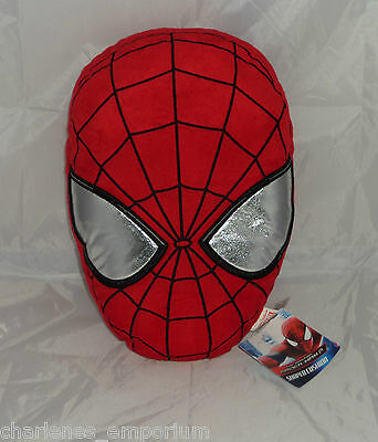 Marvel Spider-Man Cushion 3D Face Head shaped plush Pillow kids bedroom NEW