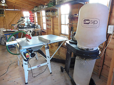 Sliding saw table and Dust extractor