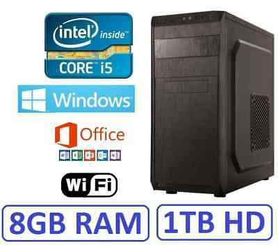 PC Ordenador Sobremesa i5 8GB RAM 1 TB HD, HDMI GT710 2GB, wifi, windows