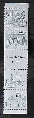 Mexican Postage Stamps Monumentos Coloniales Set of 4