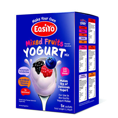 Easiyo Mixed Fruits Yogurt Mix Sachets x 5 - Each Makes 1kg of Yogurt