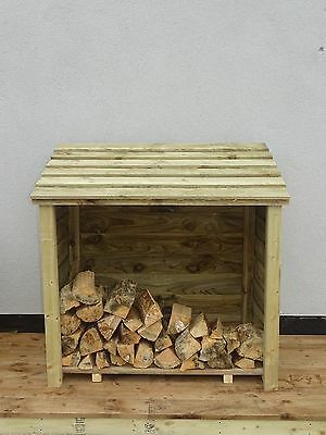 Heavy Duty, Large Wood Store, Firewood Wooden Outdoor Garden Log Storage