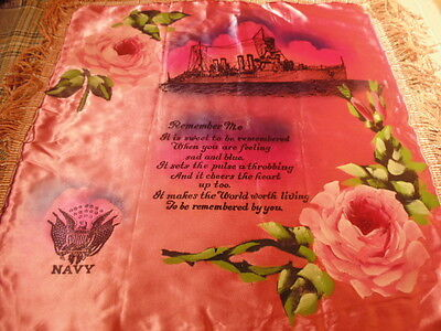 Antique Cushion Cover,1940's U.s Navy..