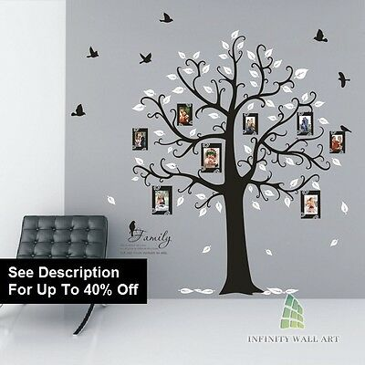 Wall Stickers Tree Bird Family Tree Nursery Kids Flower Wall Art Stickers,.-D538