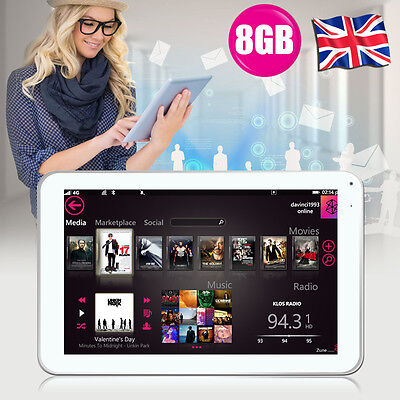 """8GB 9"""" Inch Android 4.4 Quad Core TABLET PC Dual Camera With Free Accessory SALE"""