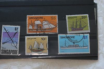 Singapore card of used stamps- lot  216