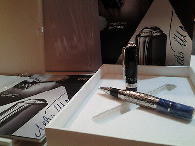 Montblanc Writers Limited Edtn 2015 Leo Tolstoy Rollerball Pen #111051 - Sealed