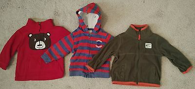 Baby Boy Size 9 Months Carters Jackets Lot of 3