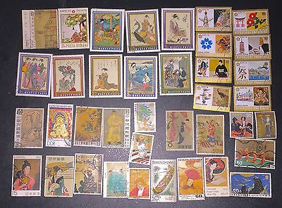 Stamp Lot Large Pictorials Fine Japanese Painting & Asian Culture