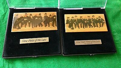 2 Cased Police Charity Badges- Lawson Wood 9 Pints of the Law