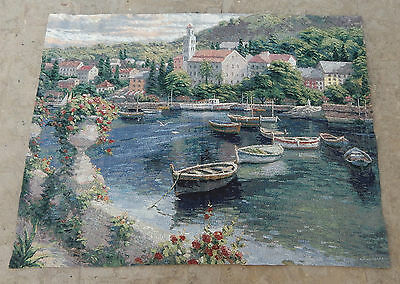 Vintage French Beautiful Scene Tapestry 129X97cm (A566)
