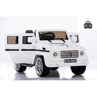 Licensed Mercedes G55 12v Electric Ride on Jeep with Remote - WHITE
