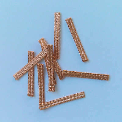 10x 20mm Hi-Performance SCALEXTRIC BRAIDS Contacts Pick-ups  Brushes Copper