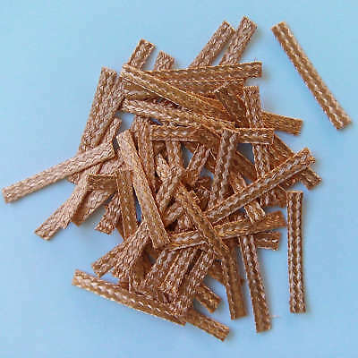 50x 20mm Hi-Performance SCALEXTRIC BRAIDS Contacts Pick-ups  Brushes Copper