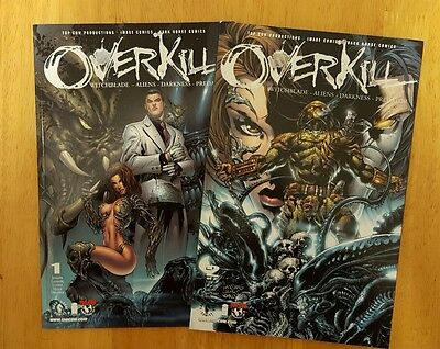 Overkill #1-2 Image Comics - Witchblade/darkness/aliens/predator - 1St Print Nm