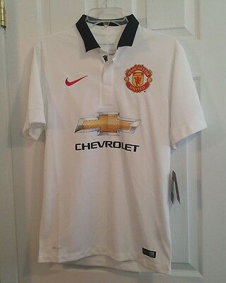 NEW Nike Dri-Fit Manchester United Game Match Soccer Jersey Mens Small S 611032
