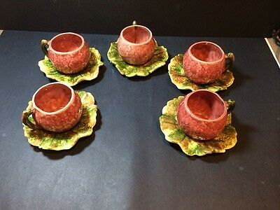 FIVE SETTINGS of Vintage Jameson's Capistrano California Pottery Cup and Saucer