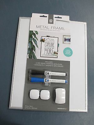 NEW U Brands Magnetic Dry Erase Board Value Pack 11 x 14 In. Markers, Eraser