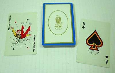 Vintage Case Tractor Advertising Playing Cards Farm Equipment Redislip Promo
