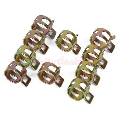 10x Spring Clip Fuel Hose Line Water Pipe Air Tube Clamps Fastener Dia. 15mm