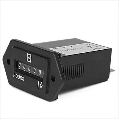 Display Electromechanical Hour Meter Counter 1/10H to 99999.9 AC100-250V