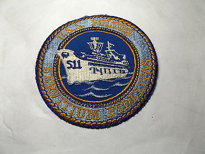 "Uss Fulton S11 Patch 4""d Submarine Tender Unused:free Ship"
