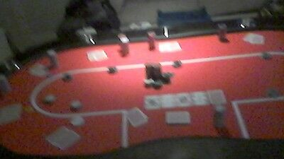 """poker table,legs and chips""""bargain"""""""