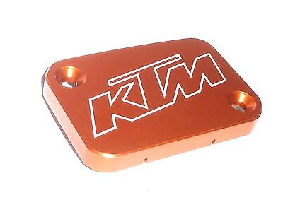 Ktm 125 200 390 Duke Front Brake Master Cylinder Lid Cap Cover Orange New B15G