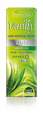 Bielenda Vanity Hair Removal Cream ALOE sensitive skin - body,face,bikini 100ml!