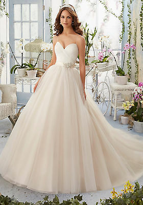 Brand New Mori Lee Tulle Bridal Gown Style 5408 free shipping