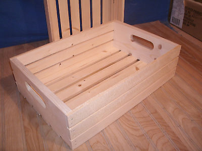"18""wooden crate, wood crate, slatted crate storage crate 5"""