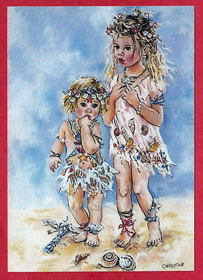 two girls Amazons   artist Christine Hayworth  Russian reprinting