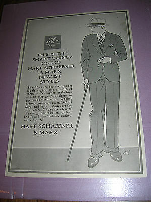 1925 Hart Schaffner & Marx ,clothing,suits, Ties, Shoes, Ad