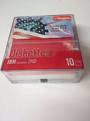 Hard to Find 100 imation patriotic diskettes Factory sealed