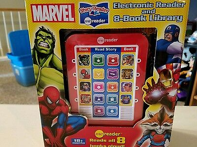 Marvel Electronic Reader And 8-Book Library