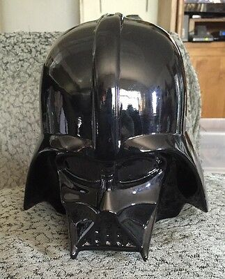 "Starwars Darth Vader Helmet Coin Piggy Bank 2014 Ceramic 8"" Tall"