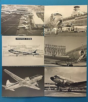 2016 United Airlines Post Cards--6 Total