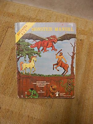 Vintage 1979 Tsr Advanced Dungeons & Dragons D & D Monster Manual - Gary Gygax
