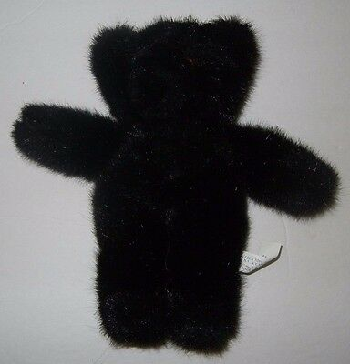 "Eden 8"" Vintage Black Korea Teddy Bear Plush"