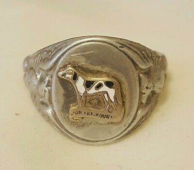 World War 2 Sterling Silver US Army National Guard 203rd Engineer Battalion Ring