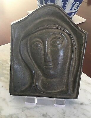 20th Century Bronze Plaque After Eric Gill